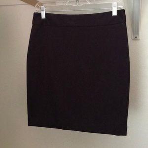 Burgundy Loft straight skirt